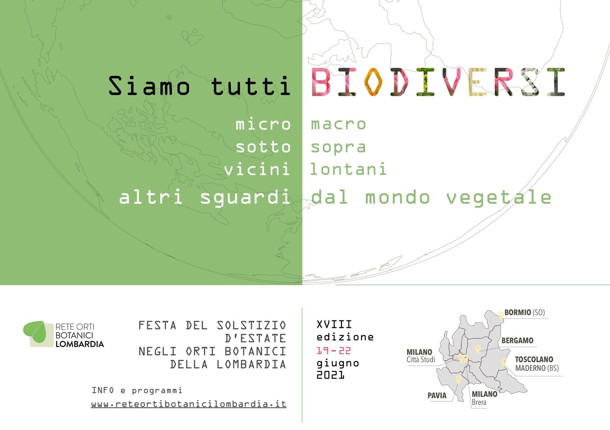 La rete degli orti botanici della Lombardia celebra il solstizio d'estate