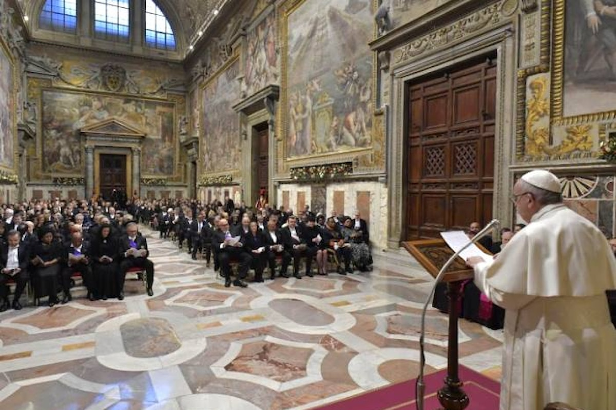 Il Papa nel discorso al corpo diplomatico della Santa Sede lancia l'allarme contro il nazionalismo