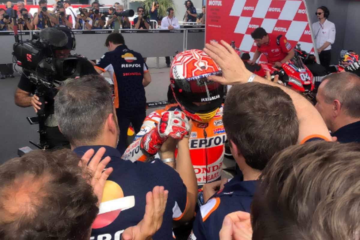 MotoGP, in Argentina si rivede Marquez: sua la pole con Dovizioso terzo