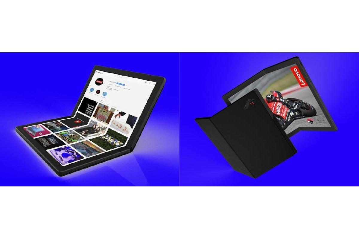 Dopo gli smartphone con display pieghevole di Samsung e di Huawei ora arriva il PC con display pieghevole di Lenovo