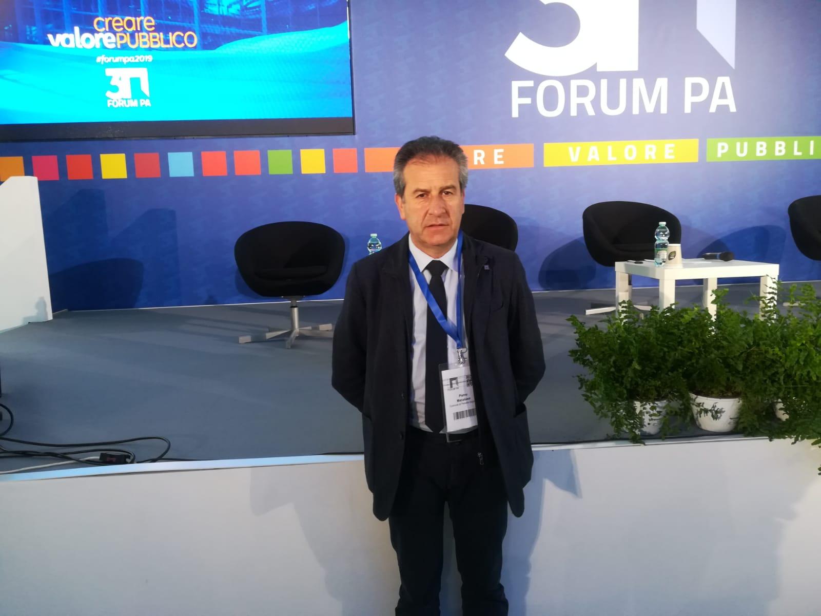 Pietro Macaluso al Forum della Pubblica Amministrazione che si tiene a Roma per parlare dell'area interna Madonie.