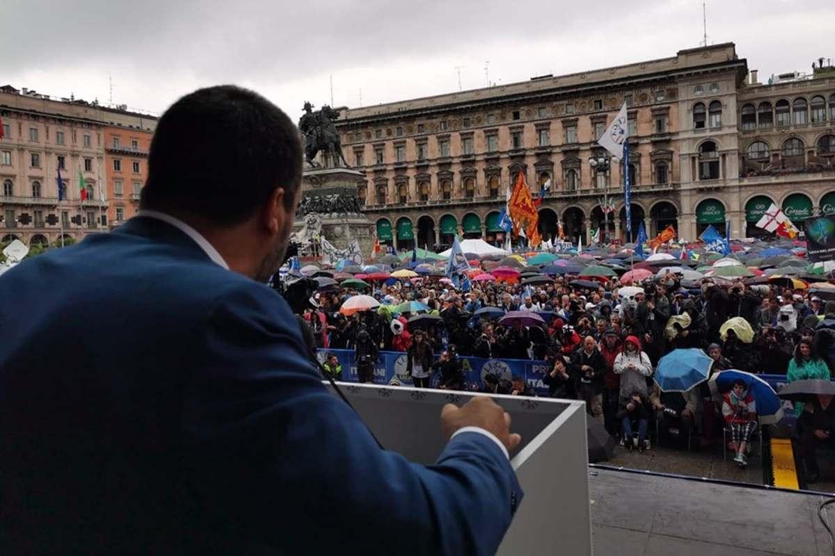 18 maggio, Salvini da Milano: la Lega vincerà le europee grazie al cuore immacolato di Maria