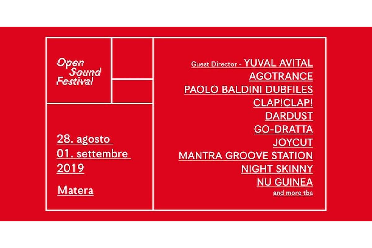OPEN SOUND FESTIVAL a Matera dal 28 agosto al 1 settembre 2019