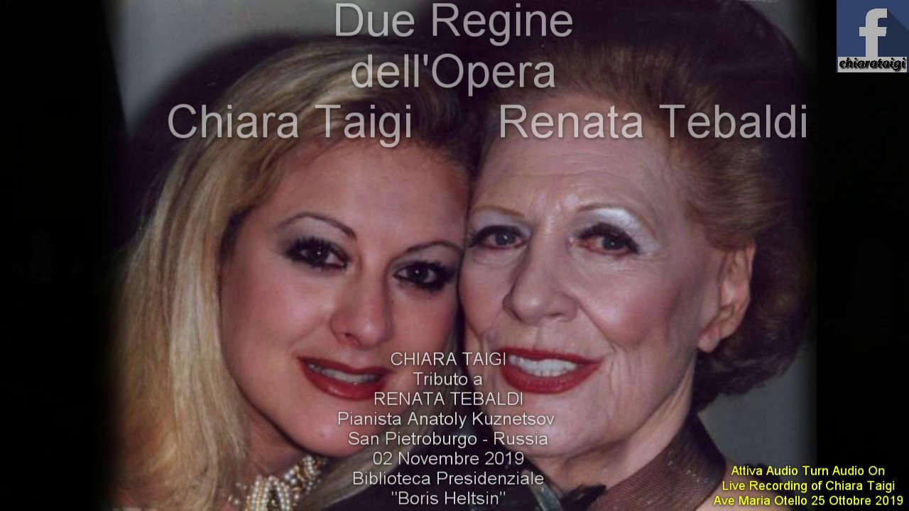 """Chiara Taigi la Regina dell'Opera celebra """"La Voce d'Angelo"""" di Renata Tebaldi a SanPietroburgo con il concerto alla Biblioteca Presidenziale Boris Heltsin"""