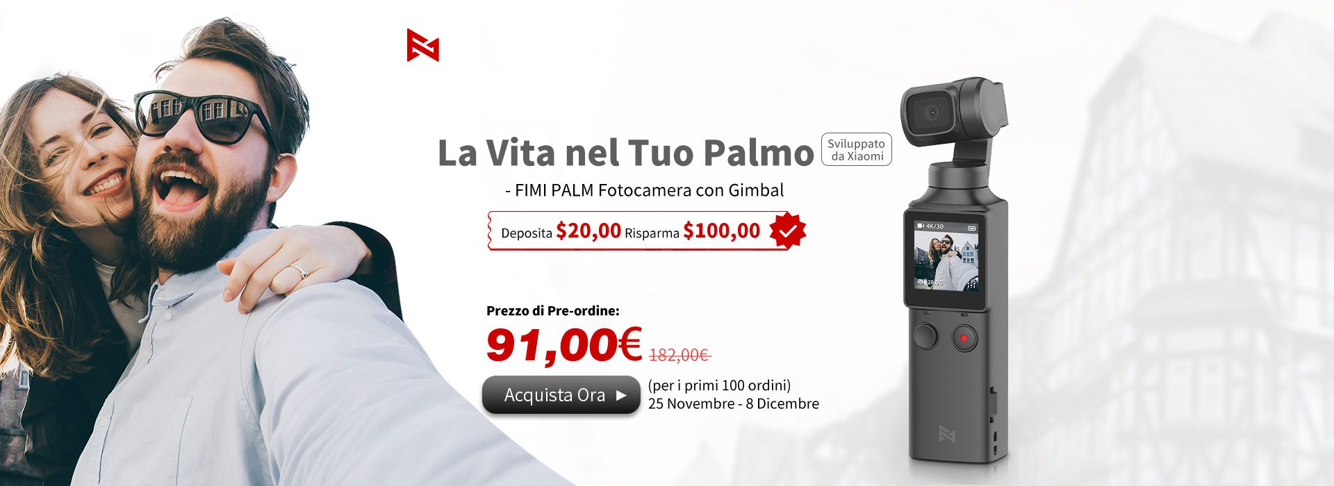 Ecco lo Xiaomi FIMI PALM ad un terzo del prezzo del suo concorrente, il DJI Osmo Pocket