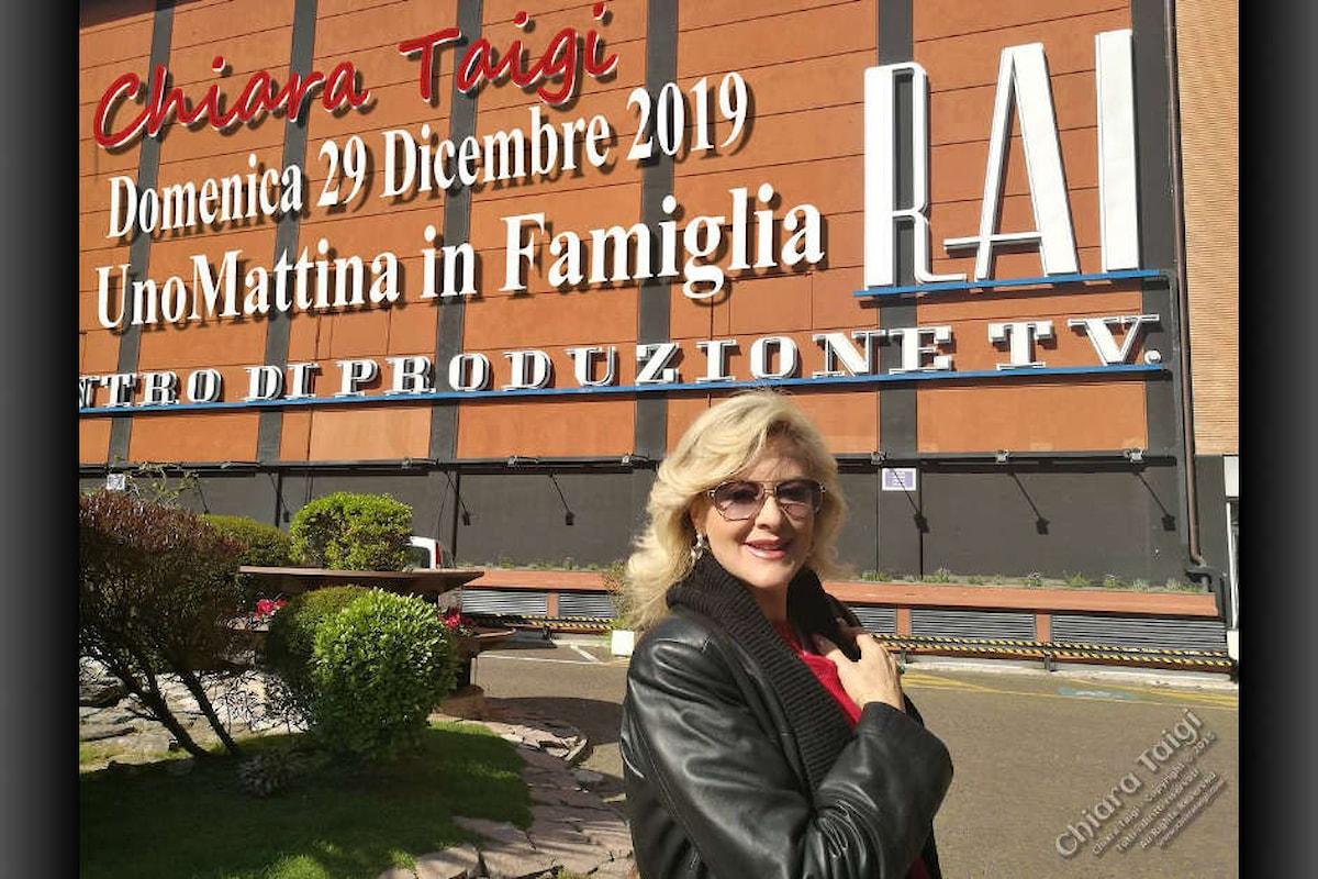 Chiara Taigi - Appuntamento su RAI UNO - UnoMattina in Famiglia - Domenica 29 Dicembre 2019 ore 9:20