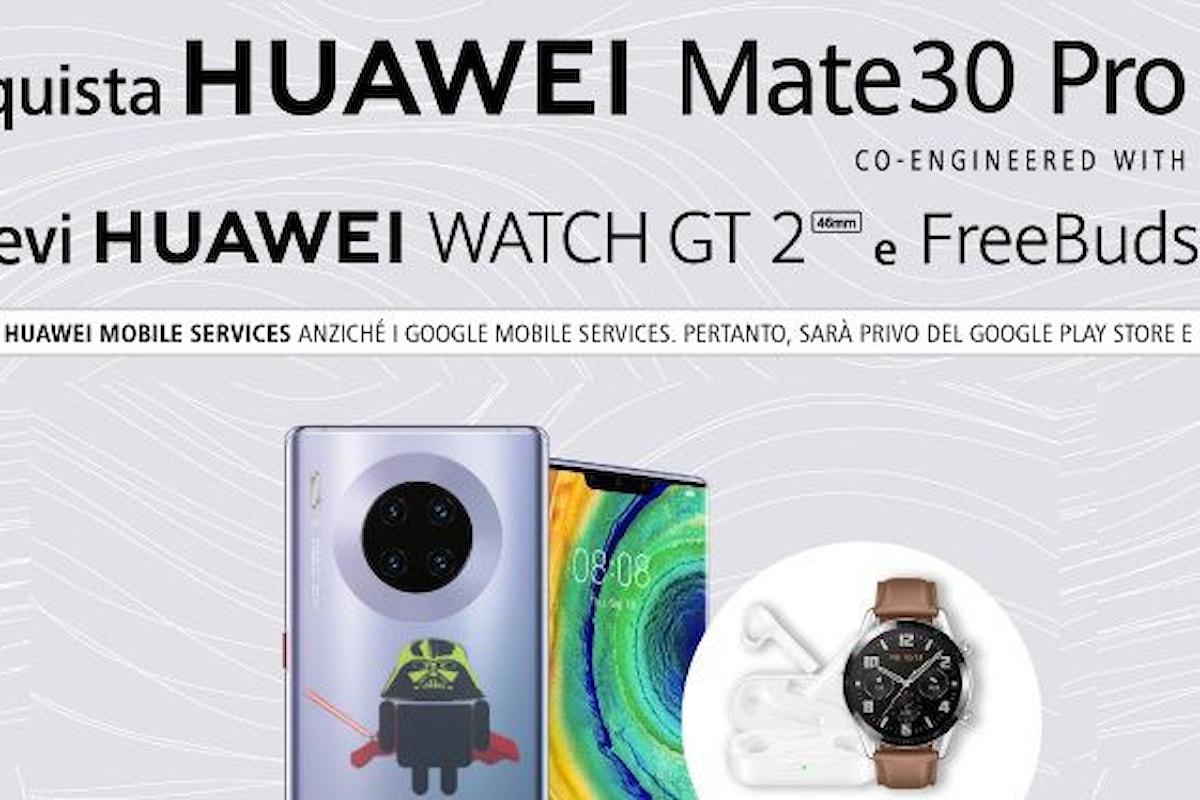 Huawei Mate 30 Pro è (finalmente) disponibile su Amazon con un doppio regalo