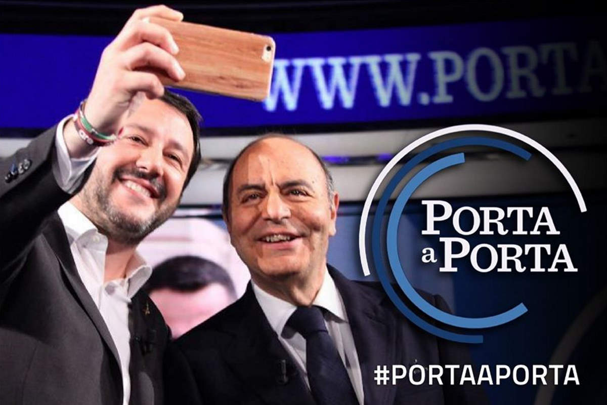 Porta a Porta? Lega a Lega! Lo spot di Vespa pro Salvini