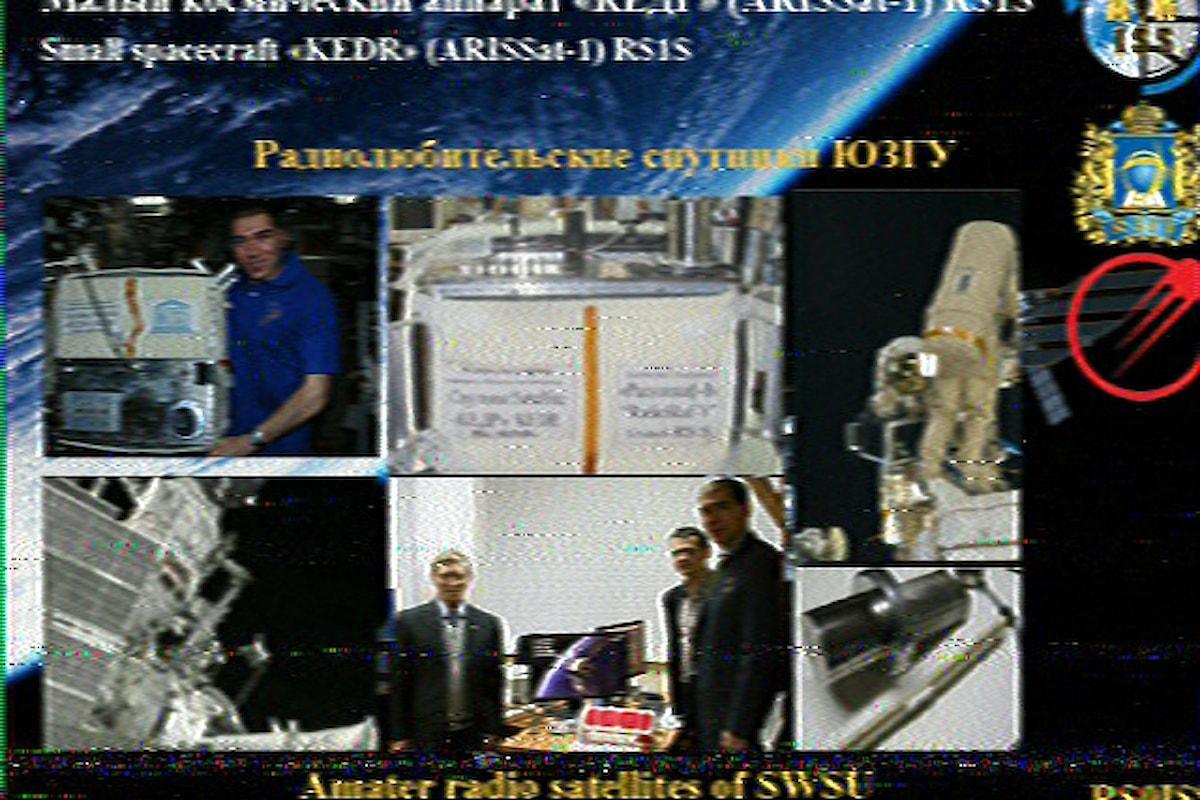 La Stazione orbitante intorno alla terra comunica costantemente con i Radioamatori nel mondo .