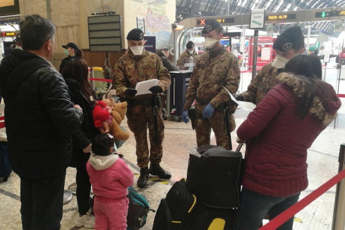 Roma: i militari italiani in prima linea contro il coronavirus