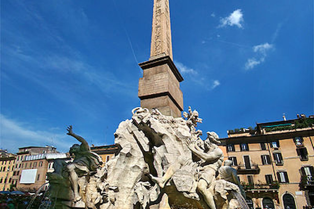 La Fontana dei Quattro Fiumi a Roma