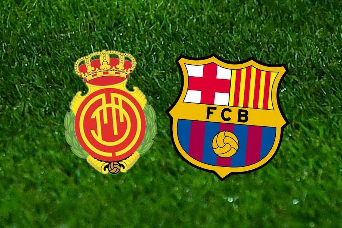 Stasera alle 22.00 il Maiorca ospita la capolista Barcellona