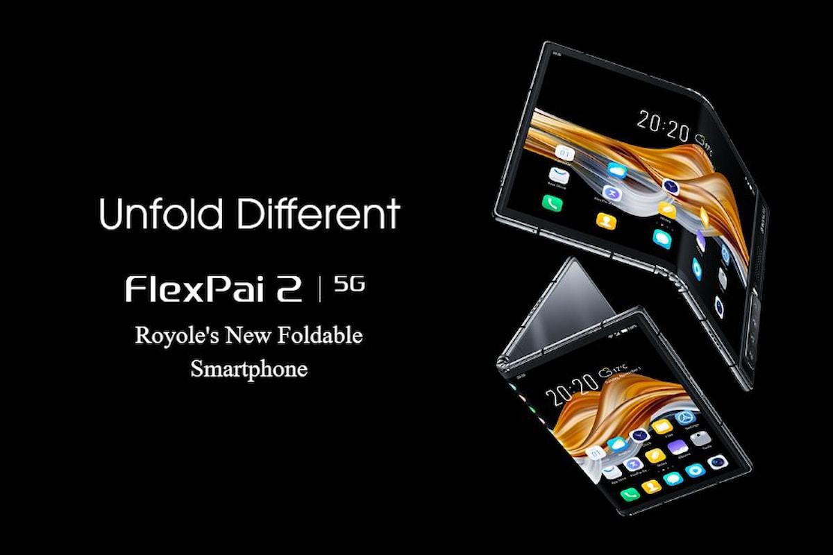 Royole FlexPai 2, presentato ufficialmente il successore del primo smartphone con display pieghevole