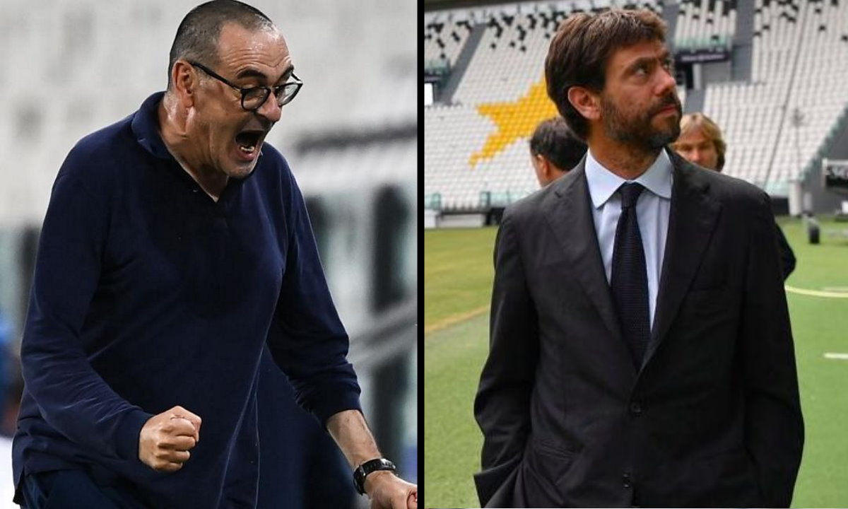 Agnelli vorrebbe far dimettere Sarri, ma lui preferisce rimanere... a libro paga