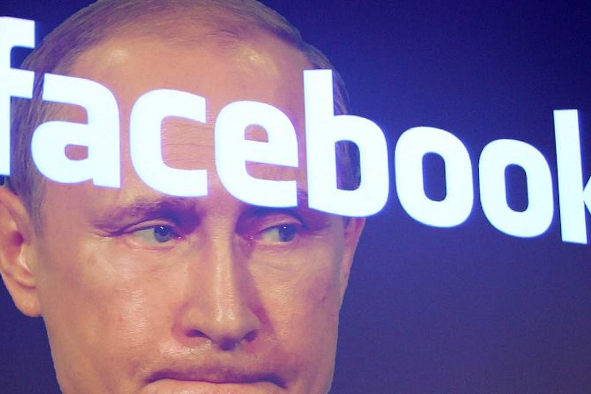 Falsi account legati alla Russia smascherati da facebook
