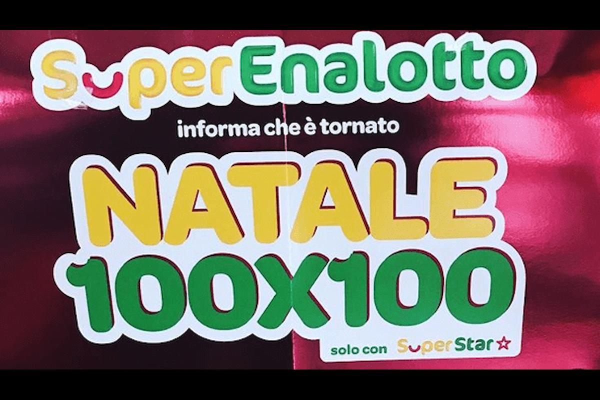 Superenalotto: ritorna il concorso Natale 100X100, abbinato al SuperStar