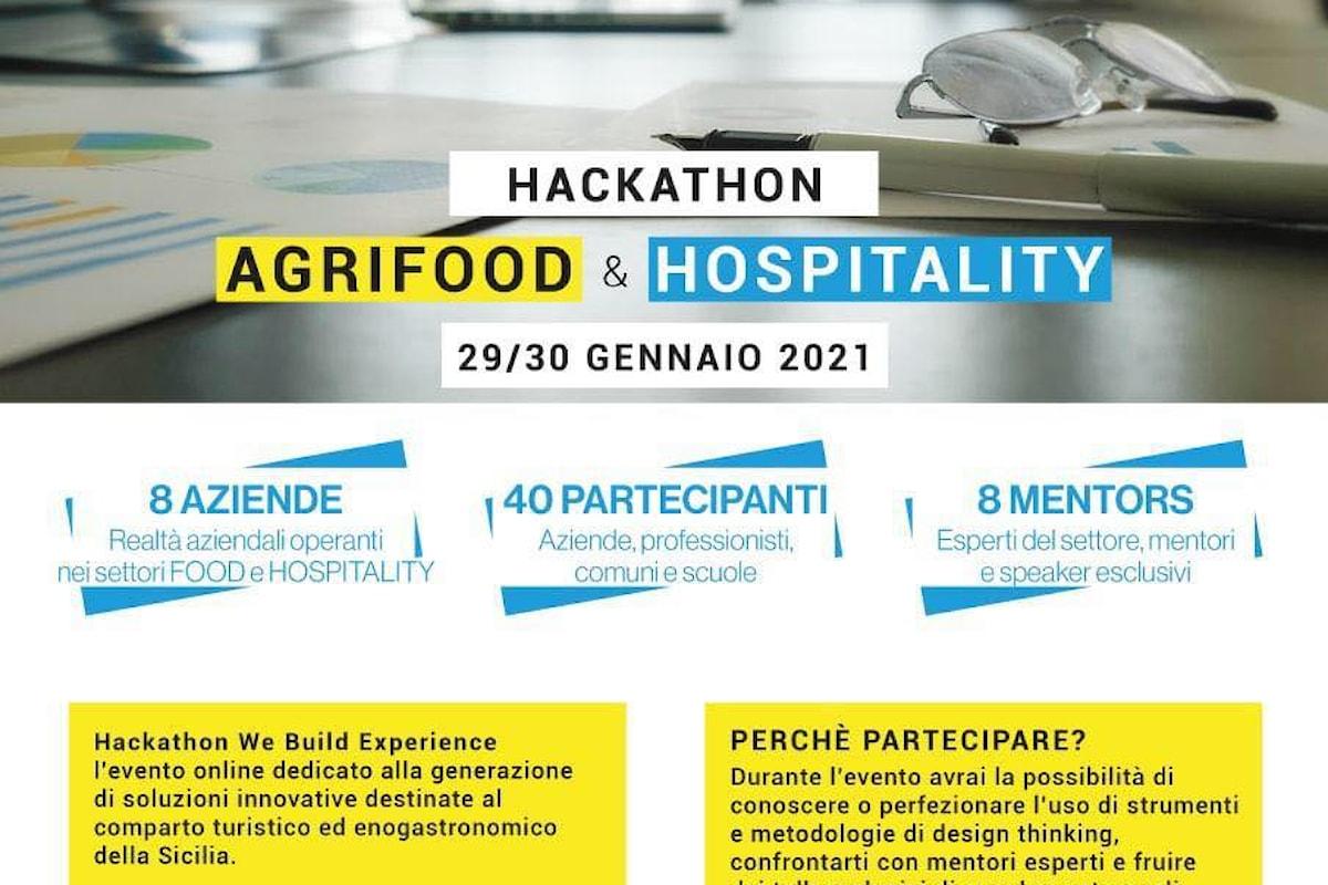 We Build Experience, Evento on line dedicato all'Agrifood e all'Hospitality - Dal 29 al 30 gennaio 2021 sulla piattaforma Zoom