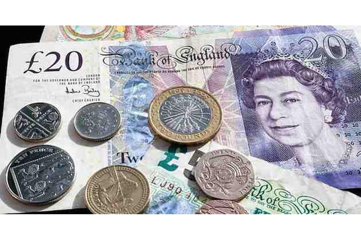 Valute, la sterlina chiude la settimana con un saliscendi del cambio