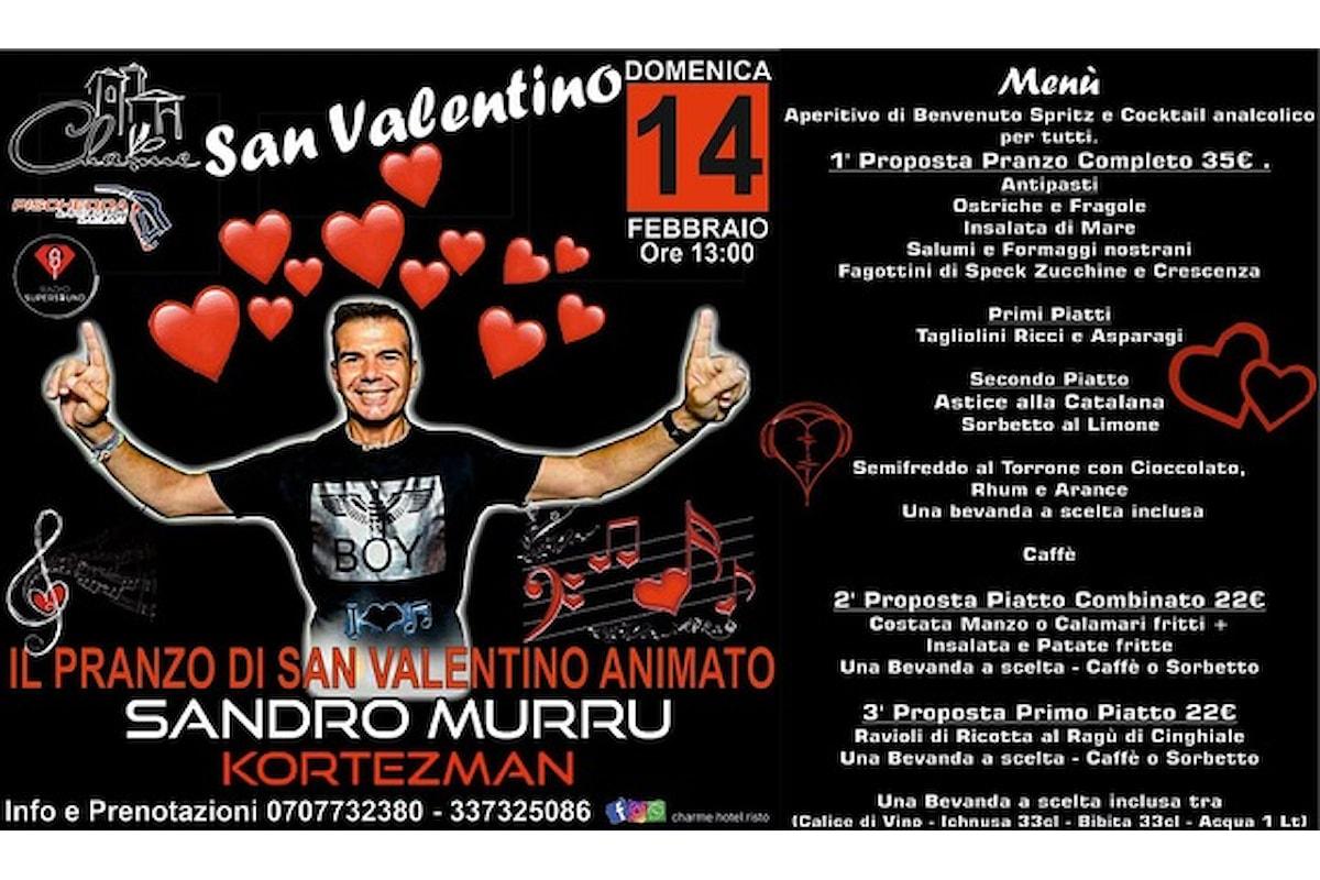 Sandro Murru Kortezman: dj show di San Valentino il 14 febbraio '21 allo Charme - Settimo San Pietro (CA)