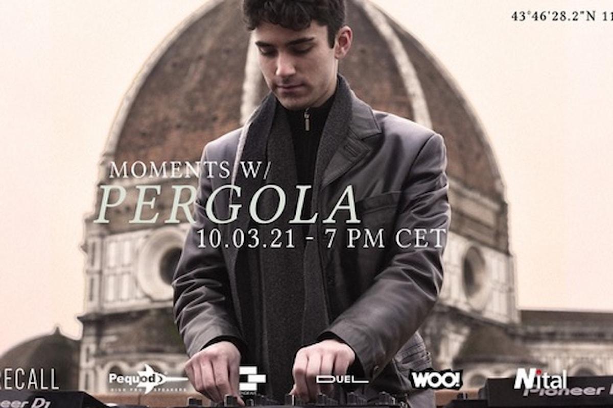 Pequod Acoustics partner di Recall: moments w/ Pergola, il 10 marzo 2021 Palazzo Pucci - Firenze