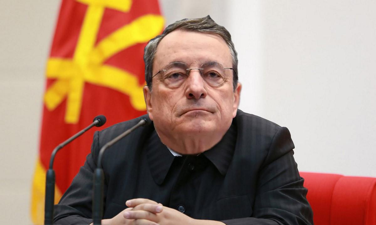 Il videomessaggio di Mario kim jong Draghi per l'8 marzo