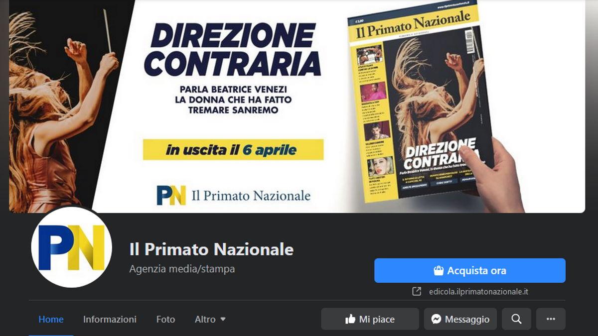 Facebook oscura la pagina de Il Primato Nazionale e poi la rimette on line... parzialmente