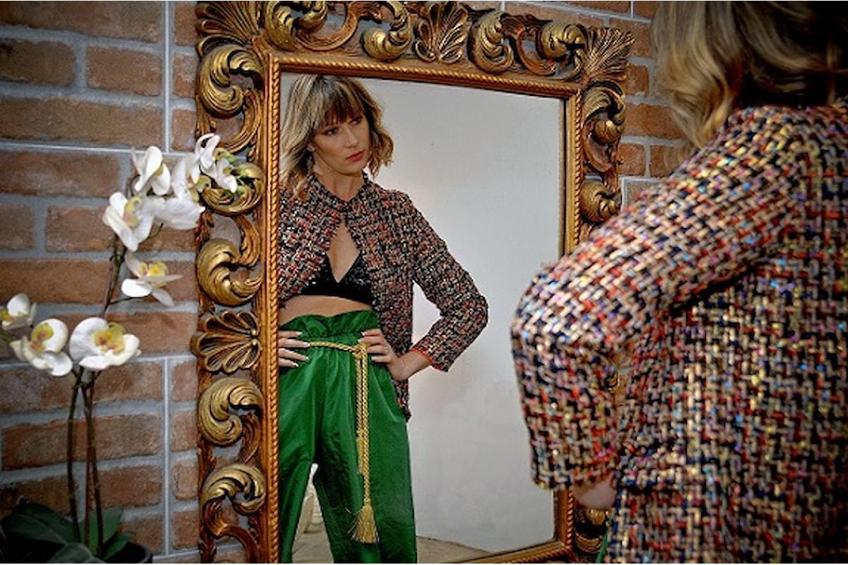 Cogli l'essenza primaverile con lo stile e l'eleganza della nuova collezione Fabiana Gabellini indossata dalla top model Andreea Duma
