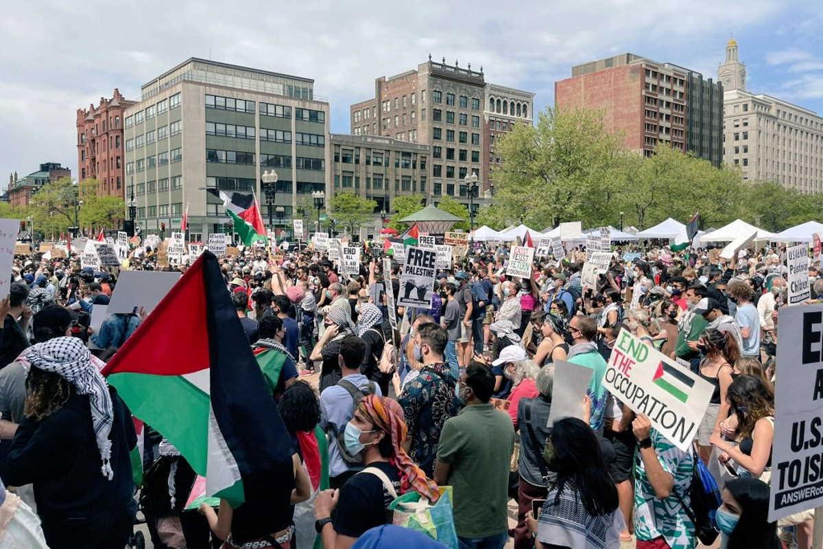 Gli americani manifestano a favore del popolo palestinese