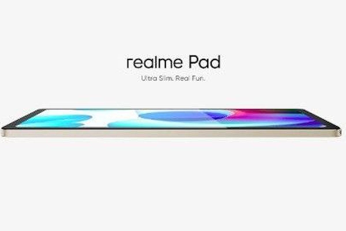 realme Pad è stato presentato ufficialmente: anche realme ha il suo primo tablet Android