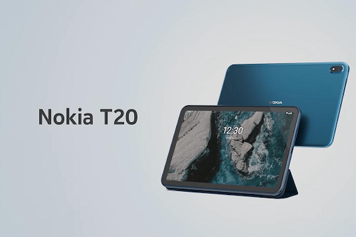 Nokia T20 è stato presentato ufficialmente: anche Nokia ha il suo tablet
