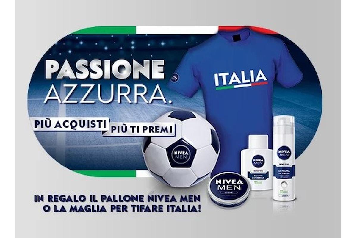 Nivea promuove il concorso Passione Azzurra: palloni e magliette in omaggio
