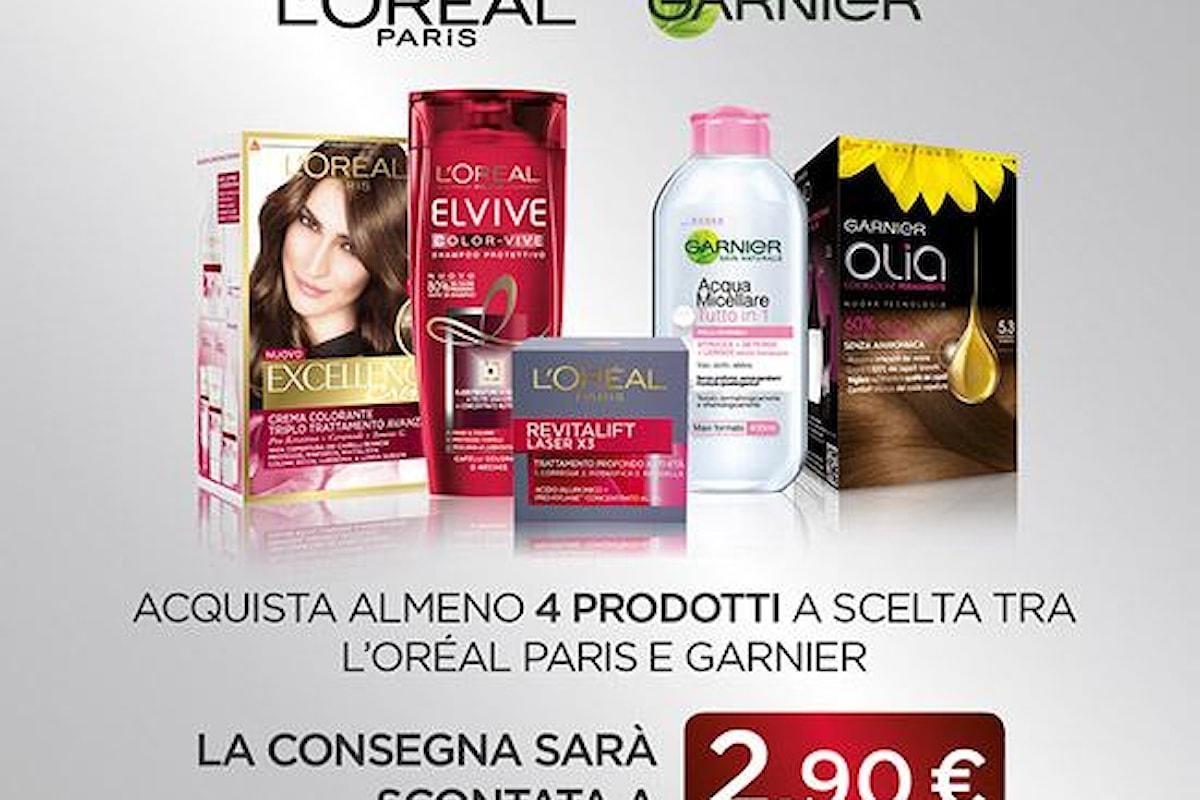 Consegna scontata della spesa fatta su Esselungaacasa.it con Garnier e L'oréal!