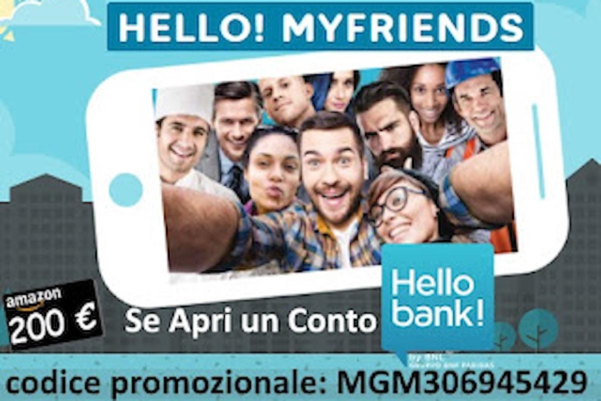 Hello Bank! + Presenta un Amico = Hello! MyFriends