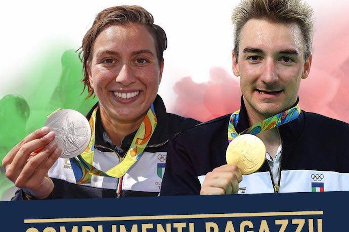 Straordinario oro di Elia Viviani nell'Omnium, Rachele Bruni seconda nella 10 chilometri di nuoto