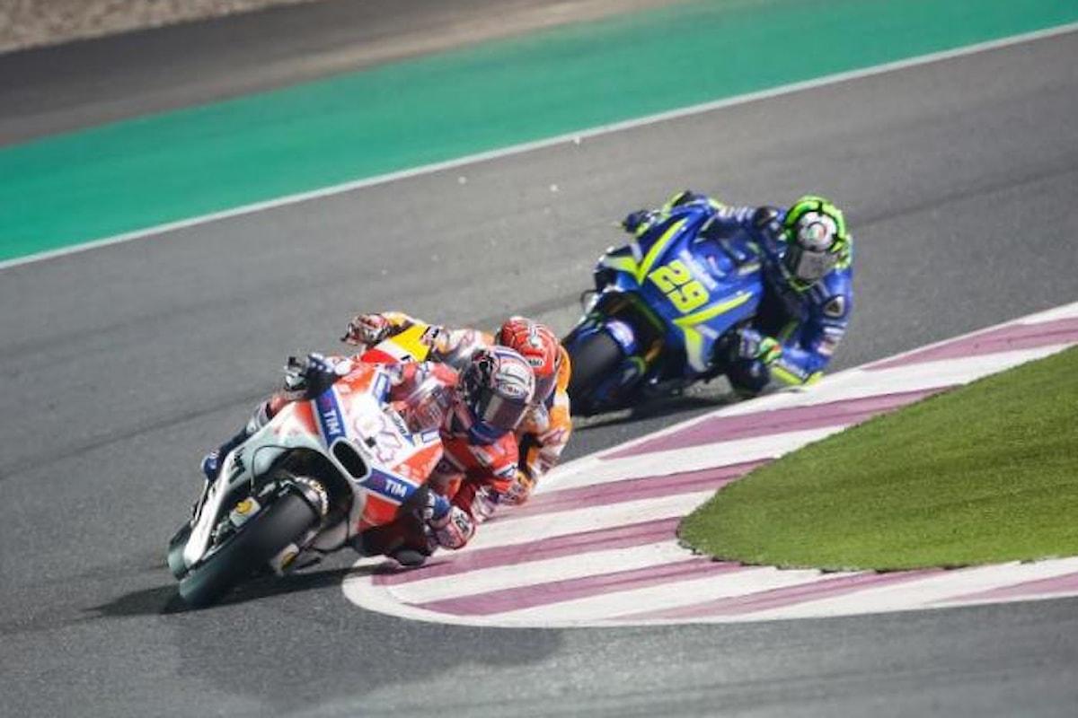 In Qatar vince Vinales, secondo Dovizioso e terzo un sorprendente Valentino Rossi