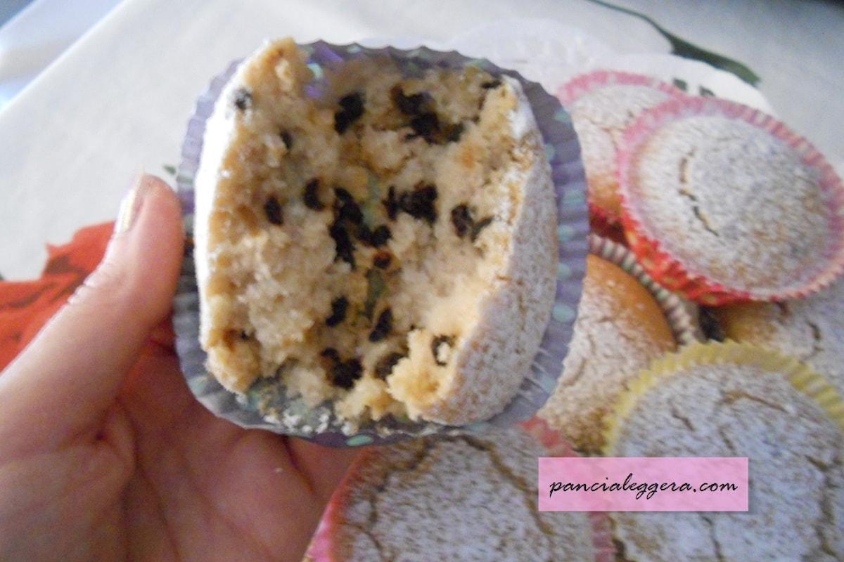 Deliziosissimi e leggerissimi muffin senza glutine e senza uova