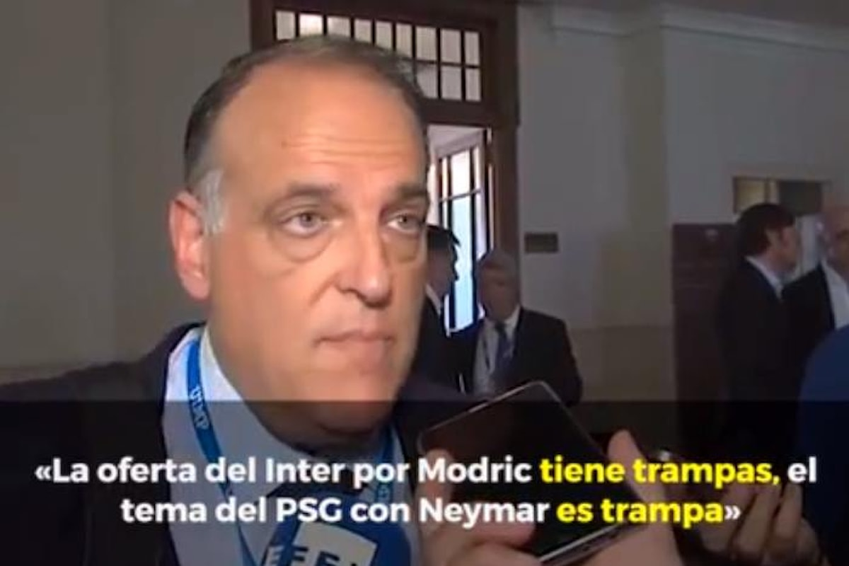 Ma quanto è nervoso il presidente della Liga Javier Tebas