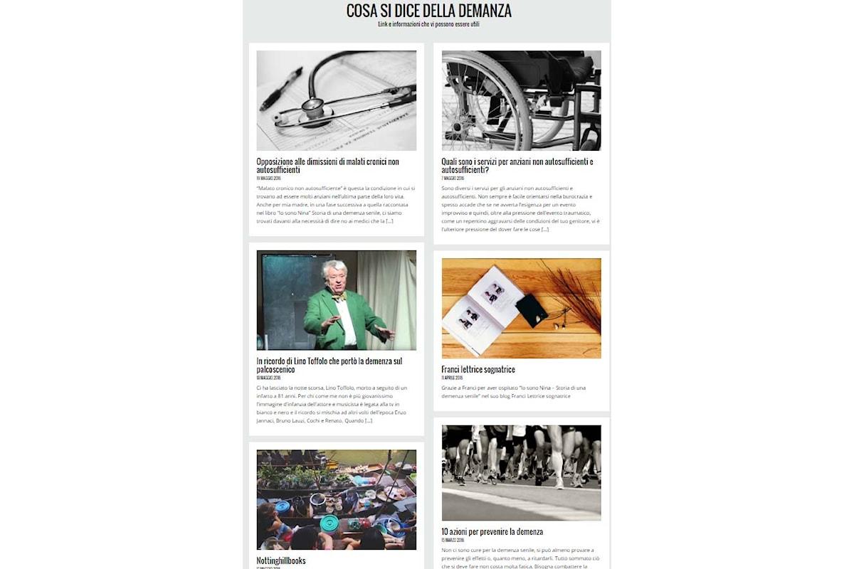 Nasce storiademenzasenile blog dedicato alla demenza