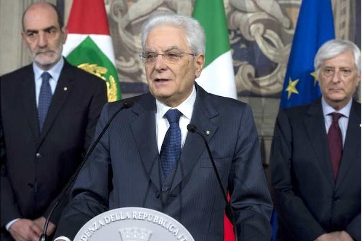 Mattarella rimanda qualsiasi decisione ad un nuovo ciclo di consultazioni che si terrà la prossima settimana