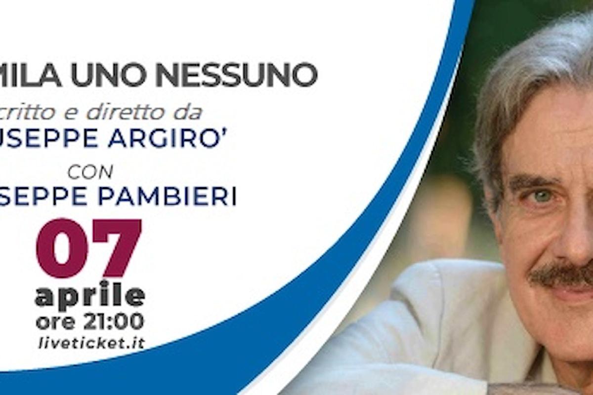 Al Teatro Imperiale di Guidonia arriva Giuseppe Pambieri con lo spettacolo Centomila Uno Nessuno su Luigi Pirandello