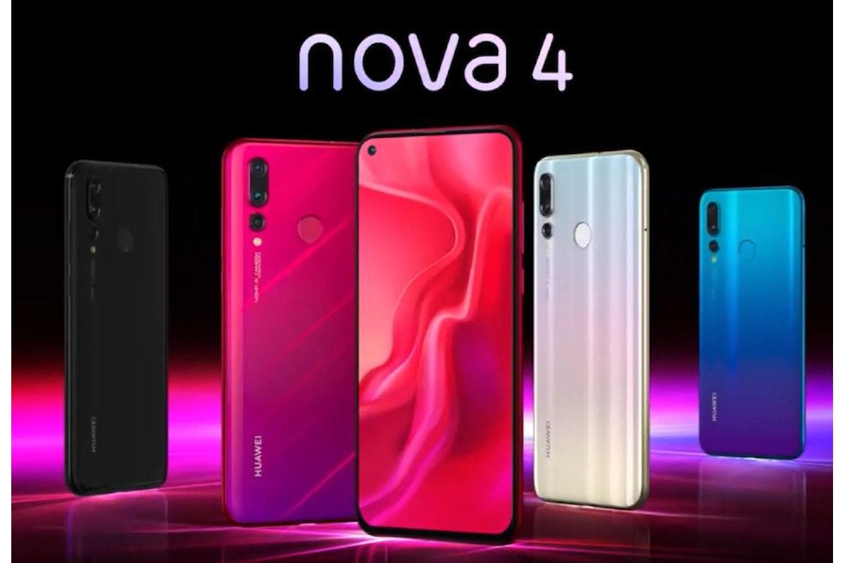 Huawei Nova 4 è stato presentato ufficialmente: il fratello di Honor View 20 con foro nel display e tripla fotocamera
