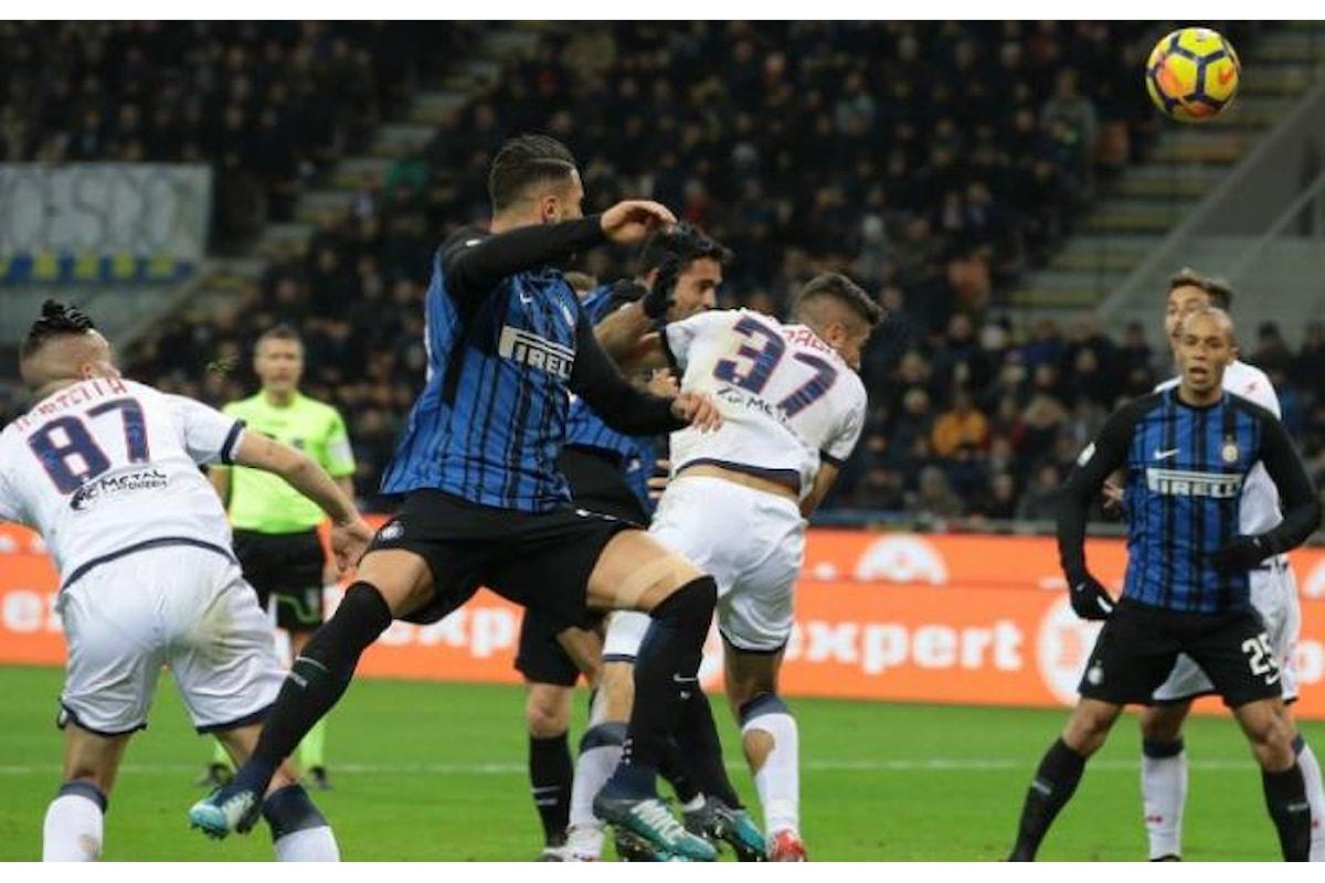 L'1-1 del Crotone a San Siro contro l'Inter celebrato con le lacrime da Zenga