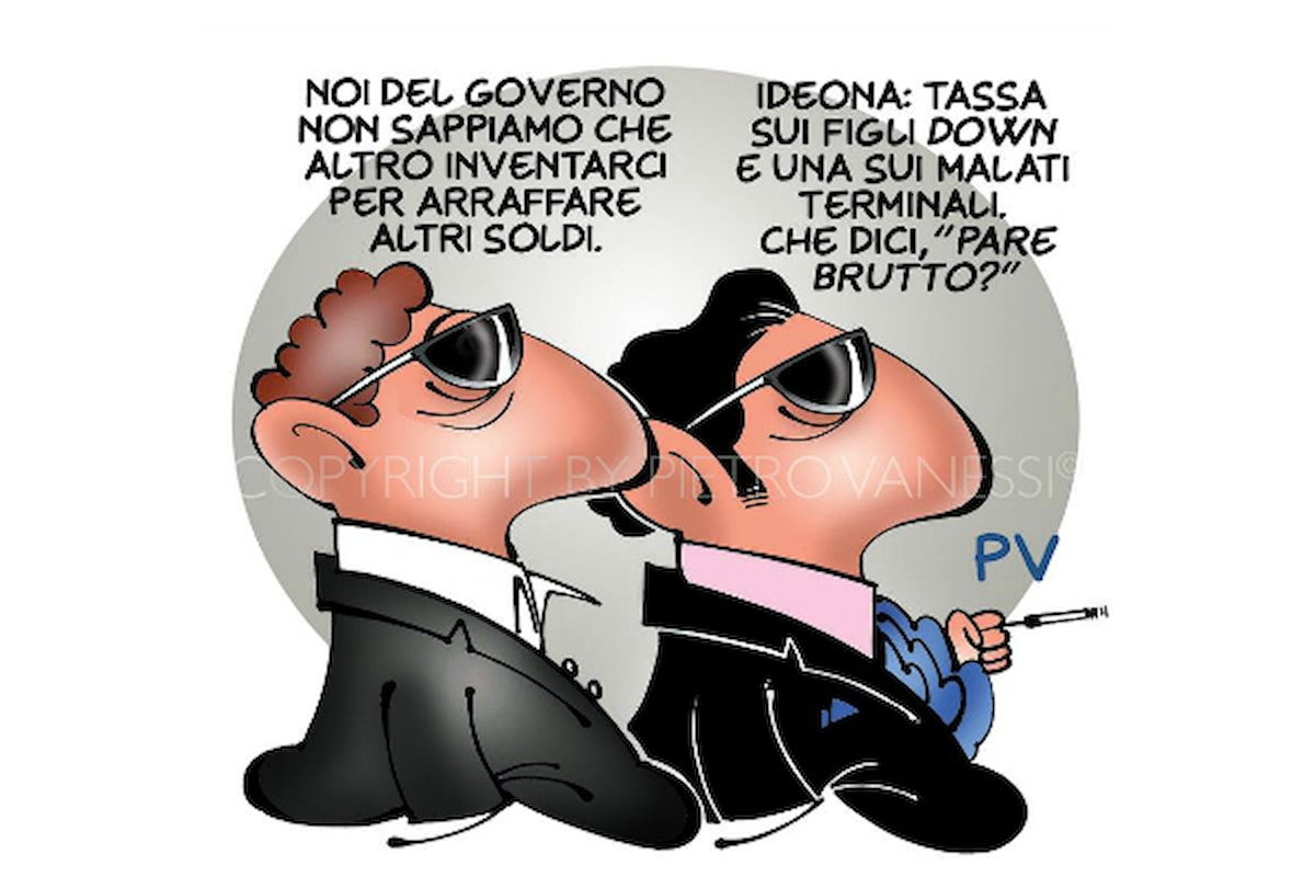 Ma quanto ci costa Lavoltabuona. Vignetta di Pietro Vanessi