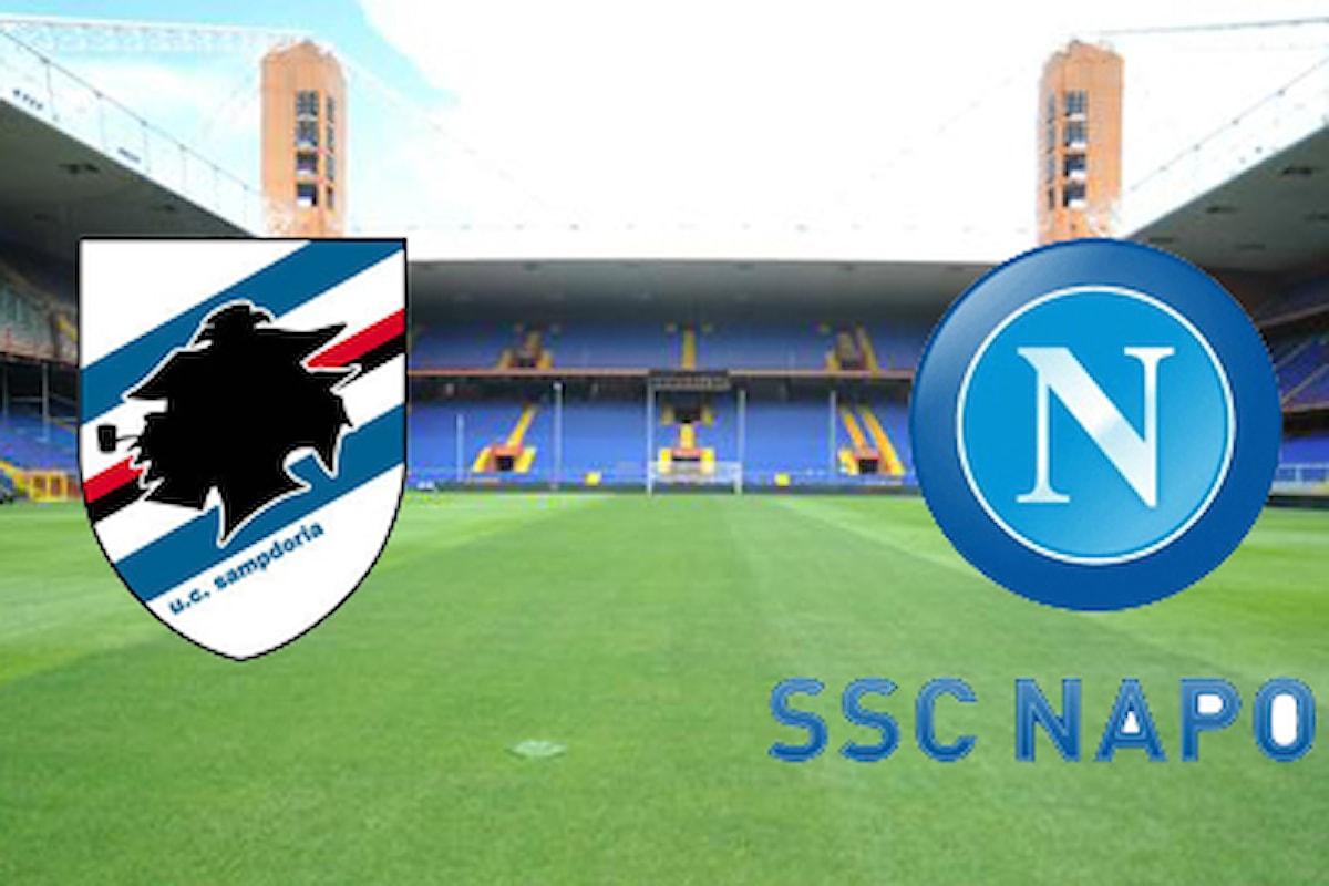 Live Sampdoria Napoli per un posto diretto in Champions!