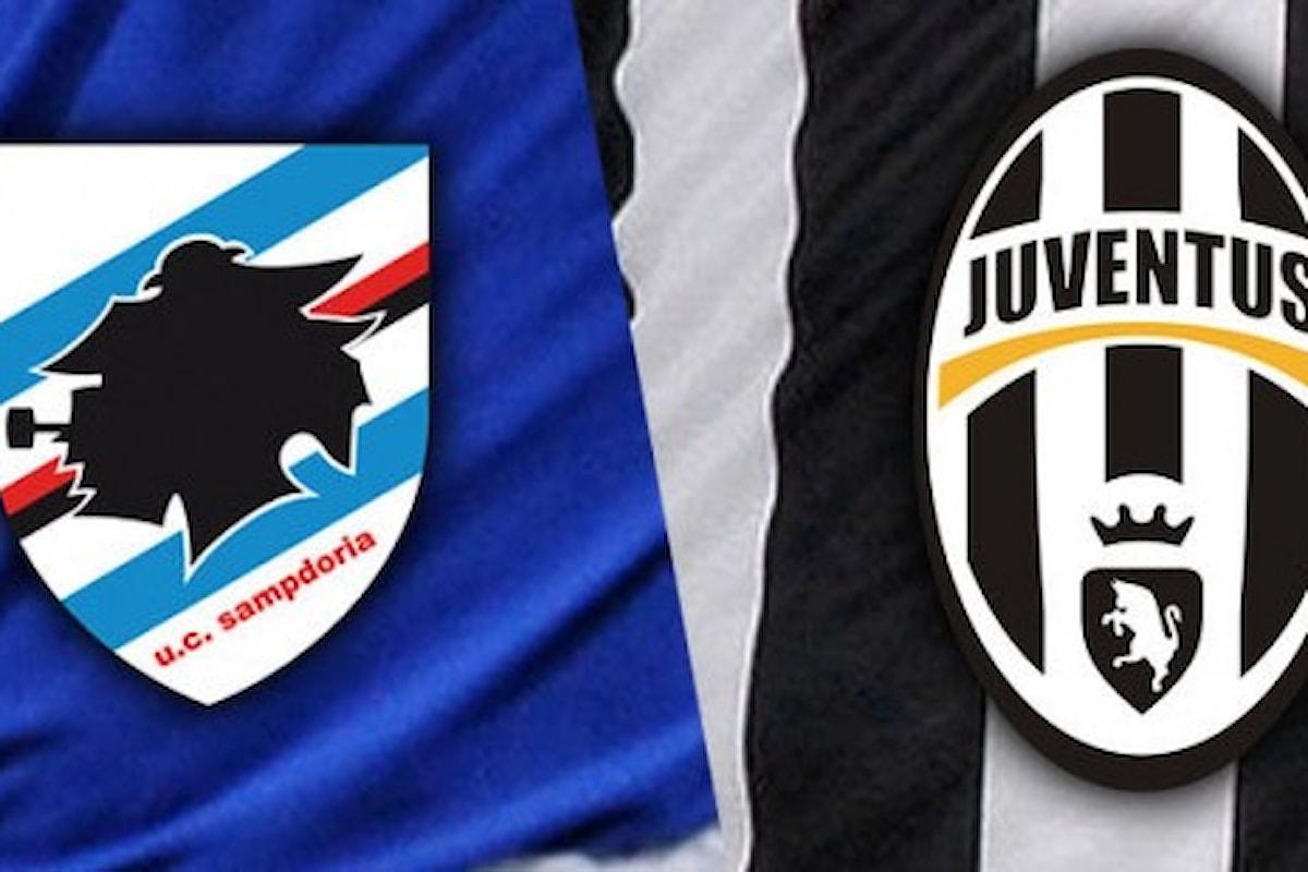 Sampdoria-Juventus LIVE minuto per minuto! Cliccate sull'articolo per rimanere aggiornati