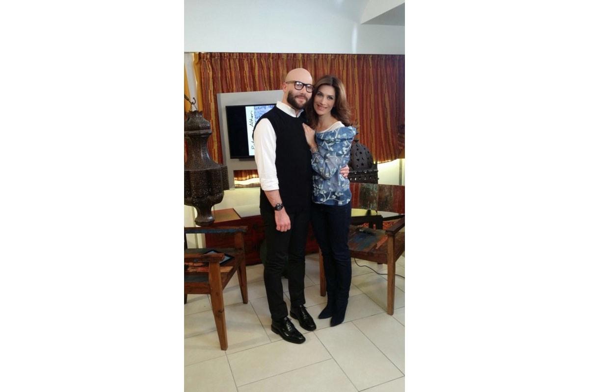 Andrea Ubbiali ospite ad Altramoda, il salotto di Sky condotto da Barbara De Santi
