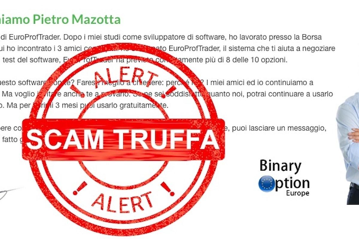 Europroftrader la truffa in internet che sta svuotando le tasche degli italiani