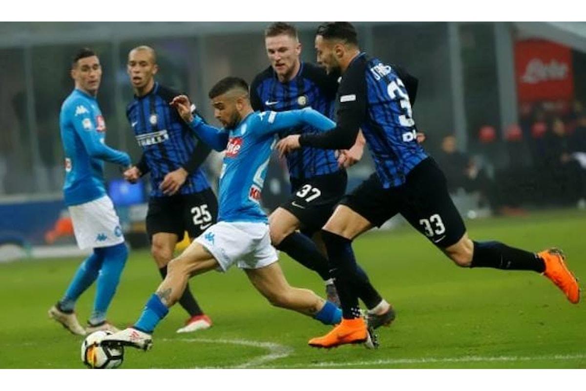 La sfida tra Inter e Napoli ad animare la 18.esima giornata di Serie A