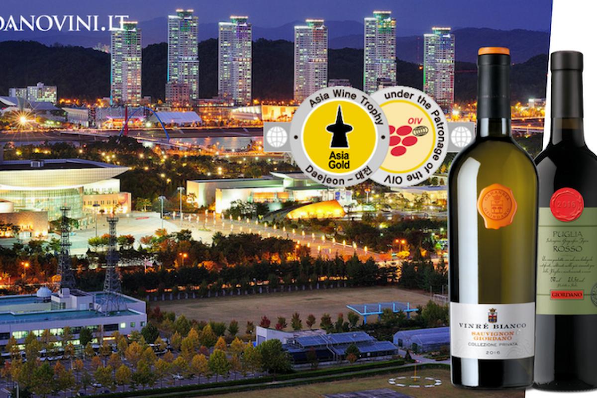 Asia Wine Trophy 2017: premiati con 3 medaglie d'oro i vini delle Cantine Giordano