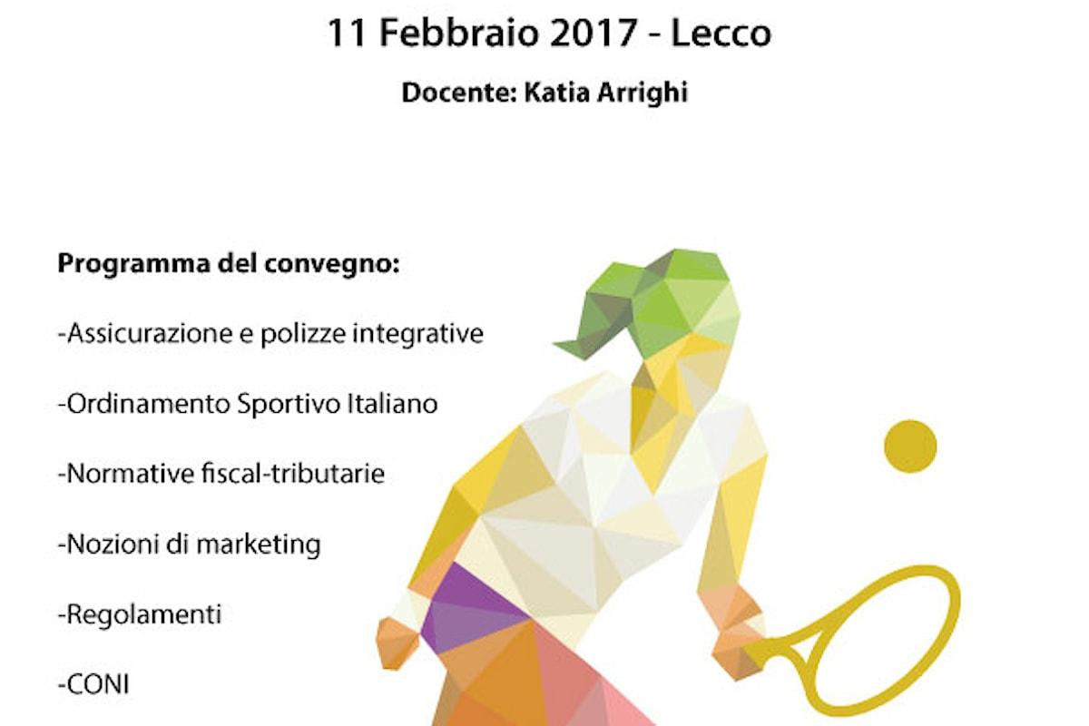 Convegno sulle normative fiscali in ambito sportivo, sabato 17 febbraio a Lecco